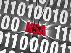 Stock Illustration of nsa hiding in computer code