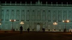 Royal Palace of Madrid, Madrid Spain. Stock Footage