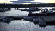 Stock Video Footage of New England Harbor at Daybreak