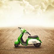 Mini motor bike for children Stock Photos