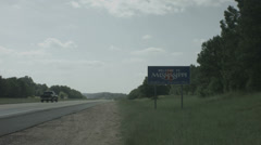 mississippi sign - stock footage