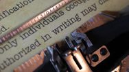 Stock Video Footage of Security document on typewriter