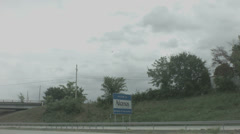 welcome to arkansas sign - stock footage