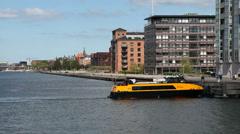 Waterbus in Copenhagen Stock Footage