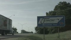 welcome to tennessee sign - stock footage