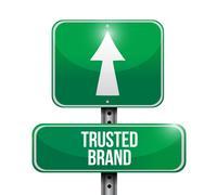 Trusted brand sign illustration design Stock Illustration