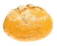 The fresh country bread isolated on white background - stock photo