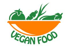 vegan food icon - stock illustration