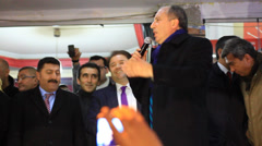Parliamentary Muharrem Ince slams the government Stock Footage