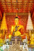 Stock Photo of principle buddha image in wat sisaket temple at chiangmai
