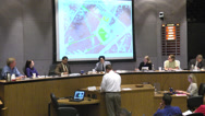 Stock Video Footage of council members talk to presenter