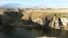 Cliffs near Durness Scotland Stock Footage