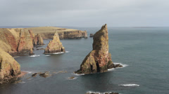 Stacks of Duncansby Scotland Stock Footage