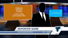 Virtual News Studio Set 01 Adobe After Effects Template - stock after effects