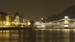Budapest by Night Timelapse 94 Stock Footage