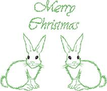 Stock Illustration of the white hare with