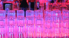 Bottle Glass NightClub Close Up lock-off Stock Footage