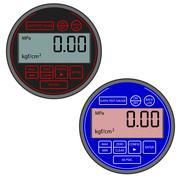 The modern digital gas manometer Stock Illustration