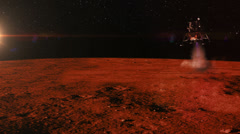 Mars Landing of a Spacecraft, 4K Stock Footage