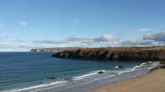 Beach at Sango Bay at low tide Durness Scotland Stock Footage