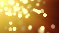Gold bokeh lights loopable background Stock Footage