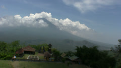 View from Lempuyang temple, Bali Stock Footage