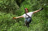Stock Photo of zip line adventure