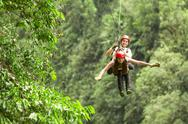 Stock Photo of tandem zipline