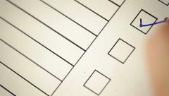 checklist  have to do thing - stock footage