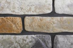 Renovation at home wall clinker tile as background Stock Photos