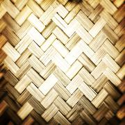 bamboo weave texture - stock photo