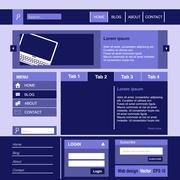 Stock Illustration of webdesign Business
