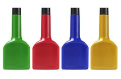 Colorful plastic containers Stock Photos