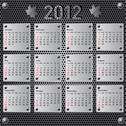 Stock Illustration of stylish calendar with metallic  effect for 2012. sundays first
