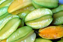 carambola or star fruit - stock photo