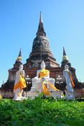 Yai chai mongkol temple, ayutthaya, thailand Stock Photos