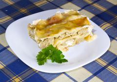 Lasagna with meat Stock Photos