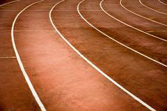Heavy use racetrack background Stock Photos