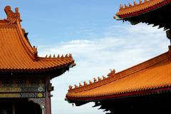 Gable roof in chinese style Stock Photos