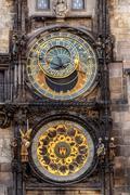 The prague astronomical clock, or prague orloj Stock Photos