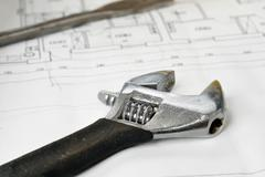 Adjustable wrench Stock Photos