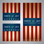4th of july card and template design Stock Illustration
