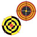 Stock Illustration of set targets for practical pistol shooting