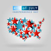 Happy independence day united states of america, 4th of july Stock Illustration