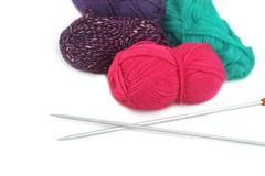 Threads for knitting Stock Photos