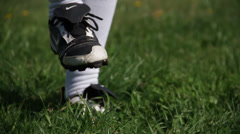 Practise session with Nike boots and soccer ball Stock Footage