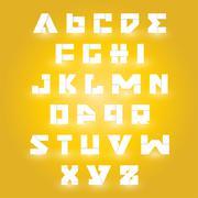 alphabet set design - stock illustration