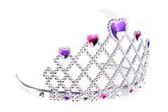 tiara with stones - stock photo