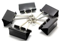 binder clip - stock photo