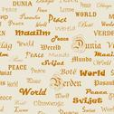 Stock Illustration of peace . seamless wallpaper with the word peace in different languages.